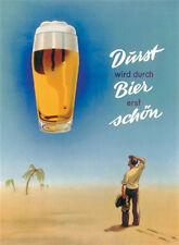 Durst (Soif) est en cas de Bière première schön Panneau métallique 8x11 cm