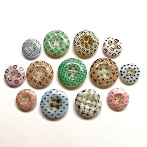 Antique Buttons ~ Fabulous China Calicos ~ Look Closely some Unique Patterns