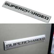 Silver & Black Supercharged Badge for rear tailgate of Range Rover L322 V8 new