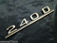 Scritta usata Mercedes 240D 240 D written back rear nameplate zurückgeschrieben