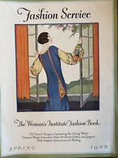 Antique Womans Institute Spring 1925  FASHION SERVICE 153 Designs Make Clothes