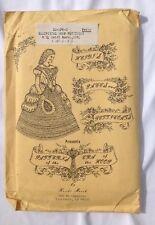 Enagua patrón americano occidental 1800s patrón de la vendimia