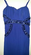Caroline Morgan Blue Sparkles Evening Long Formal Dress Size 8/10