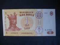 MOLDOVA 1992-94 ISSUE 1 LEU - 2010 - UNC