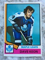 1974-75 OPC #151 DAVE KEON  TORONTO MAPLE LEAFS