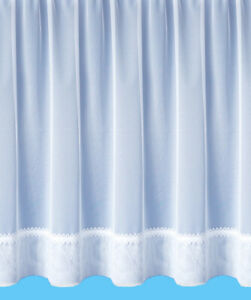 """REDUCED """"Hollywood"""" White Quality Net Curtain - Free Postage - Sold By The Metre"""
