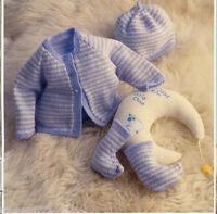 BABY  reborn knitting pattern cardigan hat socks size mico prem 10 to 16 inch