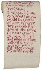 "NWT 6"" x 10' long Printed Fabric Dear Santa Letter CHRISTMAS Ribbon Garland"