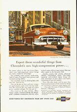 """1953 Vintage ad for CHEVROLET~""""Two-Ten"""" 4-door Sedan/Brown (101613)"""