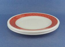 Pyrex Ovenware Dinnerware Autumn Band Red 2 Bread Butter Plates Vintage Exc Cond