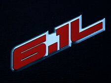 2 DODGE CHARGER CHALLENGER 300C SRT8 6.1L HEMI ENGINE EMBLEMS BADGE RED PAIR