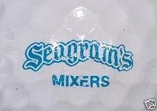 (1) Seagrams Mixers Alcohol Logo Golf Ball ( Blue)