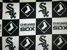 CHICAGO WHITE SOX LICENSED CHECKED LOGO SOCKS MLB BASEBALL FLEECE FABRIC