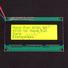 Arduino IIC/I2C 2004 20x4 LCD Module LCM Black On Green YellowGreen Backlight