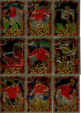 1999 Futera Fans Collection HOT SHOTS FOIL EMBOSSED Set Manchester United (9)