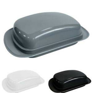 Butter Dish with Lid Plastic Butter Dish Grey Butter Container  Black White