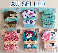 2 Pairs Quality Cotton Cute Baby Newborn Mittens Gloves for Boys and Girls
