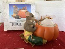 """Charming Tails """"Pumpkin Squash Votive Candle Mouse � Dean Griff Seasons"""