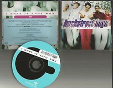 BACKSTREET BOYS I want it that way RADIO PROMO Radio DJ CD single 1999 USA
