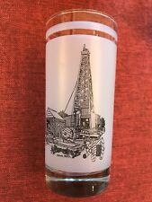 Texas 150th Anniversary ~ Commemorative Glass ~ Cable Tool Drilling Rig ~ Odessa
