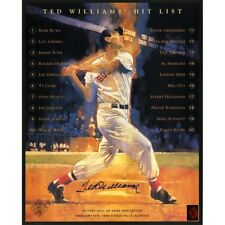 Ted Williams Autographed 16x20 Hit List Poster with Green Diamond COA