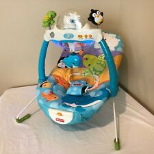 Fisher Price Precious Planet Snow Globe and Lights Bouncer Seat Infant Baby Toys
