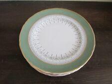Royal Worcester Regency Green England Porcelain Set Of 8 Bread & Butter Plate