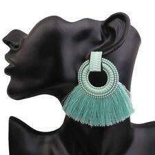 Women Bohemian Earrings Vintage Long Tassel Fringe Boho Drop Dangle Earrings