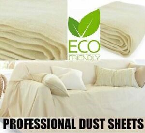 HEAVY DUTY 100%COTTON TWILL PROFESSIONAL DECORATING LARGE DUST SHEET BLUE PACK
