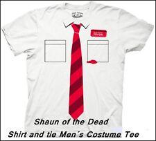 Shaun of the Dead - Shirt and Tie Men´s Costume.., T-Shirt, Größe: S - K*U*L*T*