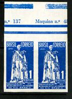 Brazil Stamps # 620 XF OG LH Imperf Pair Scarce