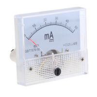 DC 0-50mA Analog Amp Meter Ammeter Current Panel Ampere Meter Milliammeter