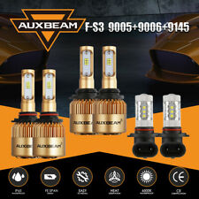AUXBEAM 9005 9006 9145 LED Headlight Bulbs+Fog Kit for Jeep Grand Cherokee 05-10