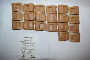 Lot of 20 Huggable Hangers Finger Clips  NEW  Tan / Beige / Brown