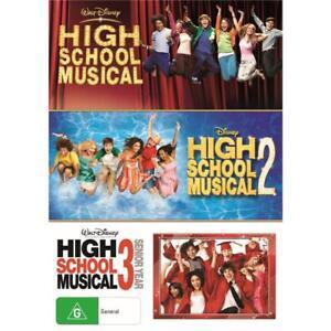 High School Musical 1, 2 & 3 movie collection DVD R4 Disney