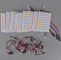 10x Super Bright 11w Warm White BA9S T4W LED 48SMD Panel Interior Dome Map Light