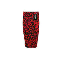 WOMEN'S LADIES PRINTED STRETCHY PENCIL BODYCON WIGGLE MIDI SKIRT PLUS SIZE 8-22