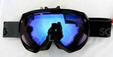 $160 Scott Mens Notice OTG Over The Glasses Electric Fan Black Blue Ski Goggles