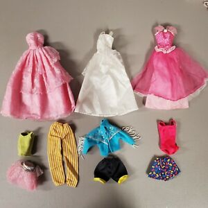 6F~TLC 51~ MIXED BARBIE DOLL FASHION CLOTHING USED CLOTHES TLC LOT FOR OOAK PLAY