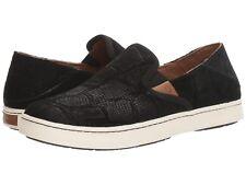 Women's Shoes OluKai PEHUEA Leather Slip On Loafer 20329-BH40 BLACK HONU