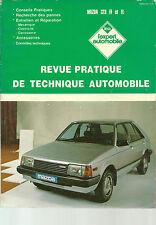 REVUE TECHNIQUE EXPERT AUTOMOBILE  - MAZDA 323 FF et FL