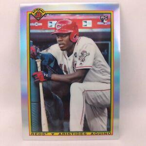 2020 Bowman Baseball Aristides Aquino Chrome Rookie 1990 Bowman Insert