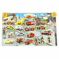 Timy 23 Wooden Magnets Magnetic Fire Engine Vehicle Set Child Toys Set Kit
