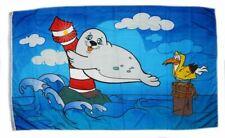 Flagge / Fahne Leuchtturm Robbe Hissflagge 90 x 150 cm