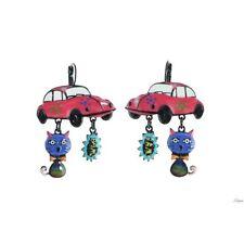 Boucles d'oreilles pop art,années 60,lol bijoux,chat,coccinelle,cox,voiture,rose