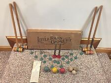 Antique Vintage Children's Toy Little Folks Croquet set for Lawn or Parlor