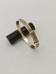 Vintage 9ct 1/5 9ct Rolled Gold Baby Bangle