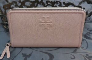 Tory Burch ~Leather THEA MULTI-GUSSET Zip Continental Wallet~PINK~NWT $225