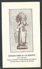 Estampa antigua Virgen de la Merced andachtsbild santino holy card santini