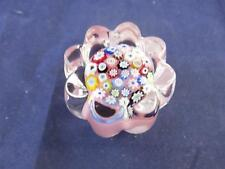 Small Caithness Glass Paperweight Millefiori Pink Close Packed.
